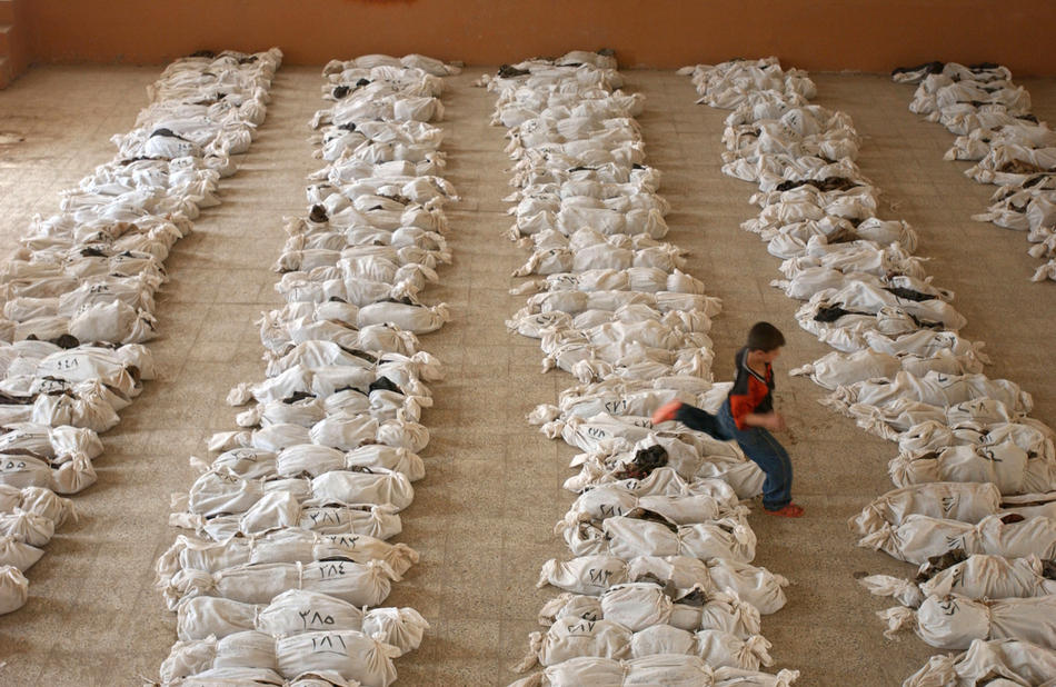 Iraqis Search For Relatives Among Mass Grave Remains