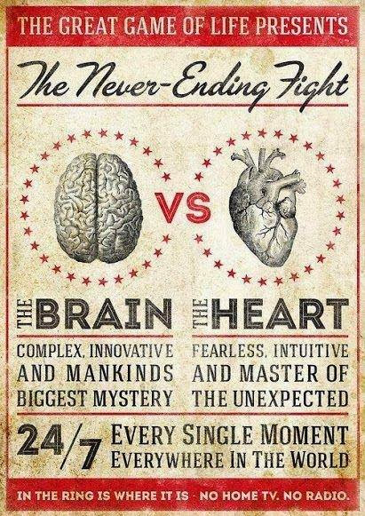 The great Game of Life present The Never-Ending Fight The brain vs the heart