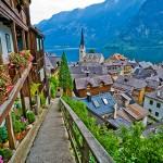 Austria, Upper Austria, View of village